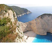 Shipwreck Zante Island Greece Photographic Print