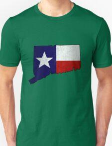 Texas flag Connecticut outline Unisex T-Shirt