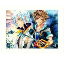 Riku & Sora (Kingdom Hearts) Art Print