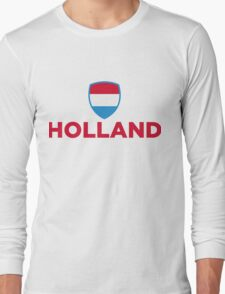National Flag of Netherlands Long Sleeve T-Shirt