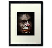 Tears of a clown Framed Print