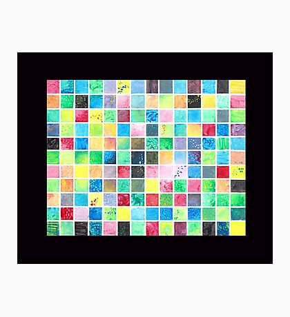 Grid Painting Photographic Print