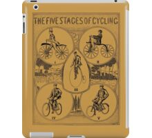 The five stages of cycling (bicycle history) iPad Case/Skin