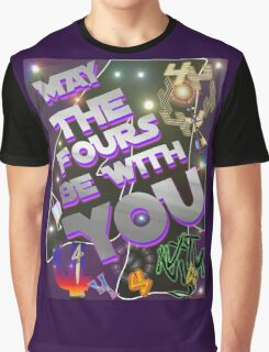 May The Fours Be With You Design Graphic T-Shirt