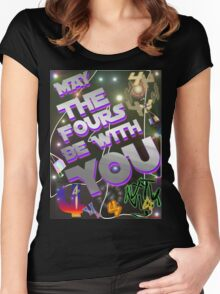 May The Fours Be With You Design Women's Fitted Scoop T-Shirt
