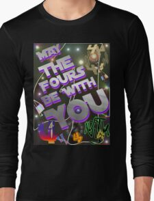 May The Fours Be With You Design Long Sleeve T-Shirt