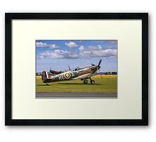 Spitfire Ia X4650/KL-A G-CGUK taxies out Framed Print