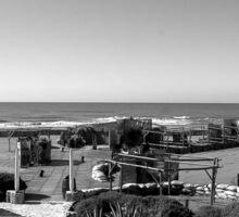 Ostia seafront: beach and sea Sticker
