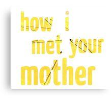 How I Met Your Mother - Umbrella Canvas Print