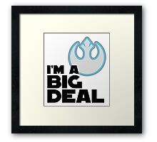 """I'm a Big Deal in the Resistance"" Framed Print"