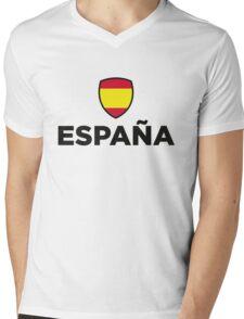 Spain Emblem Small 1 (3c, NEU) Mens V-Neck T-Shirt