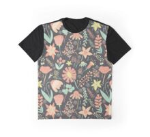 Peachy Keen Wildflowers Graphic T-Shirt