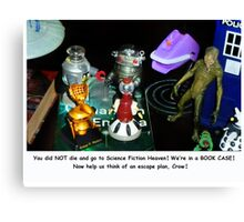 'Bots in the Bookcase Canvas Print