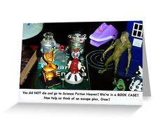 'Bots in the Bookcase Greeting Card