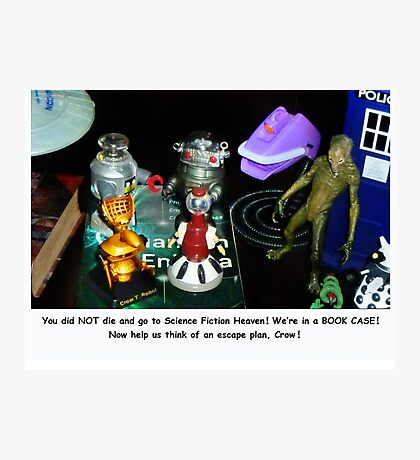 'Bots in the Bookcase Photographic Print