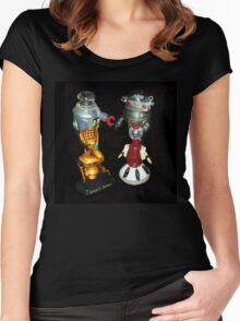 'Bots in the Bookcase Women's Fitted Scoop T-Shirt