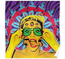 Miley Cyrus Psychedelic 3D Poster