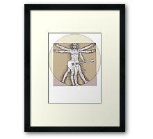 Vitruvian Rock Framed Print
