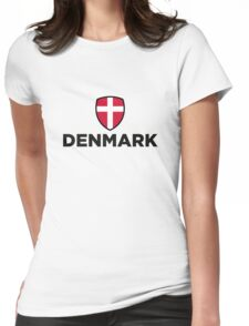 National flag of Denmark Womens Fitted T-Shirt