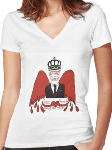 moriarty you should see me in a crown Women's Fitted V-Neck T-Shirt