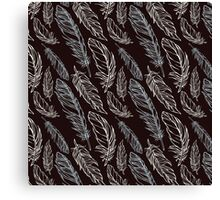 Girly Abstract Feathers Pattern Canvas Print