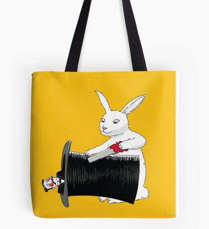 Rabbit vs. Magician Tote Bag