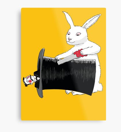 Rabbit vs. Magician Metal Print