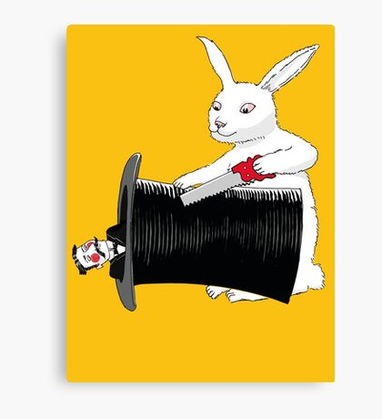 Rabbit vs. Magician Canvas Print