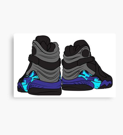 Aqua 8s Canvas Print
