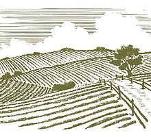 Woodcut Countryside by blue67sign