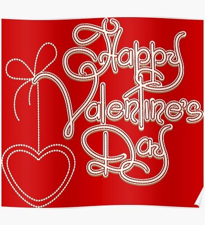 Happy Valentines Day Theme Poster
