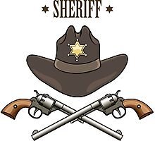 Sheriff Emblem Photographic Print