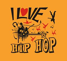 I love hip hop Womens Fitted T-Shirt