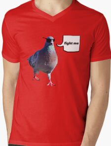 The 'Fight Me' Pigeon Mens V-Neck T-Shirt