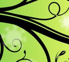 Green Flourish Morning Spring Sticker