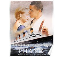 Obama and Merkel in Titanic Poster