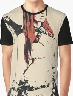 Warrior girl, catgirl assasin, conte sketch Graphic T-Shirt