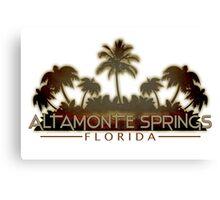 Altamonte Springs Florida palm tree design Canvas Print