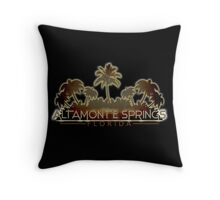 Altamonte Springs Florida palm tree design Throw Pillow
