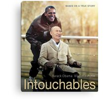 "Putin And Obama in ""Les Intouchables"" Canvas Print"