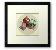 McMario's Mushroom Meal Framed Print