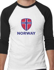 National Flag of Norway Men's Baseball ¾ T-Shirt