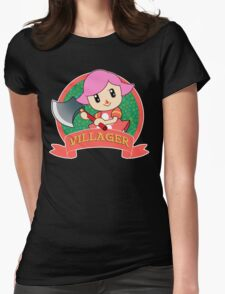 Animal Crossing: Girl Villager Womens Fitted T-Shirt