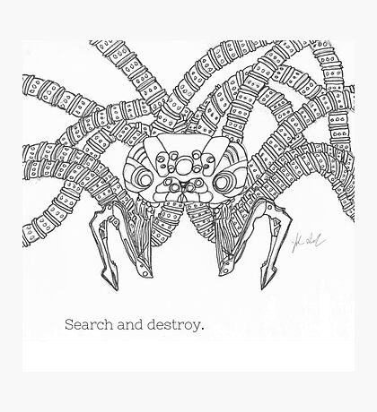 Search And Destroy- Sentinel (Matrix) Photographic Print