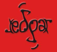 """Edgar"" Ambigram (reversible image) One Piece - Short Sleeve"