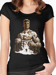 Climbing the Mountain - Rocky IV - Ivan Drago Women's Fitted Scoop T-Shirt
