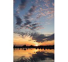 Smoky Apricot Sunset Photographic Print