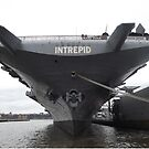 Intrepid Air and Space Museum, Hudson River, New York City by lenspiro