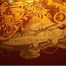 Classic Transportation Mural, Rockefeller Center, New York City by lenspiro