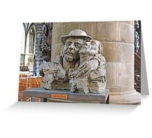 Bust of St Damiaan,  Church of Our Lady, Aarscot, Belgium Greeting Card